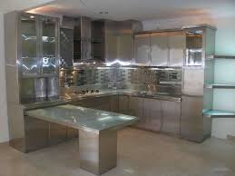 kitchen excellent plain stainless steel backsplash design with l