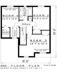 4 bedroom two storey house plan ts489 1595 sq feet