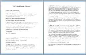 land lease agreement template farmland lease contract template contract templates