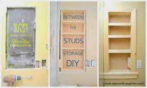 between the studs storage a tutorialusing stair tread nosing as