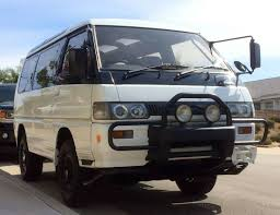 van mitsubishi delica turbodiesel 4 4 1991 mitsubishi delica super exceed bring a trailer