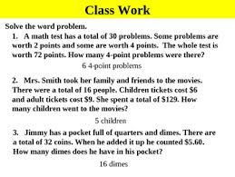 algebra 6 3d solving systems by elimination word problems ppt