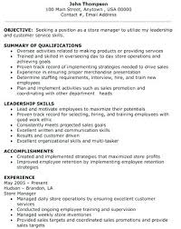 sample resume for retail position job resume retail store manager