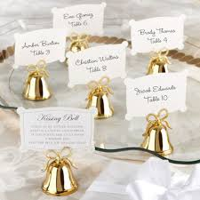gold bells place card holder