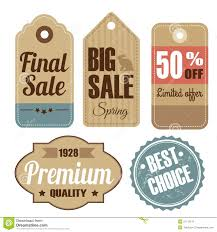 retro set of vintage sale and quality labels card royalty free