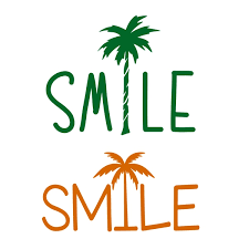 smile coconut tree cuttable design