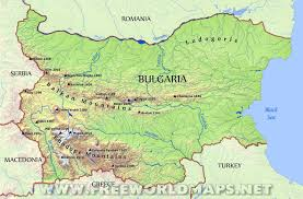 World Physical Map by Bulgaria Physical Map