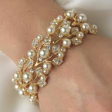 bridal bracelet images Vintage stretch pearl and rhinestone bridal bracelet gif