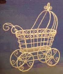 Cinderella Wire Carriage Centerpieces by Baby Nursery Decor