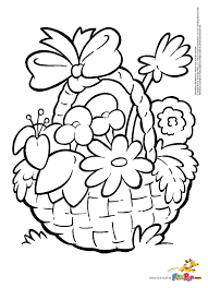 flower basket coloring pages eson me