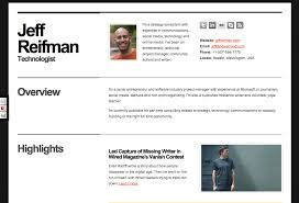 Best Resume Site by Great Template For A Web Based Online Resume Cv Jeff Reifman
