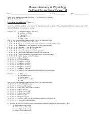 worksheet for chapter 11 the nervous system worksheet nervous