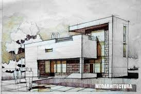drawing houses modernist house architectural drawing arch student com