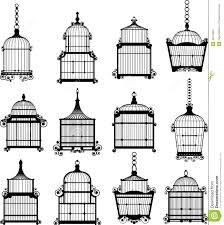 se of vintage birdcages stock vector image 42214481