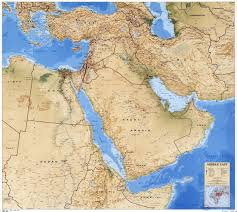 Bahrain Map Middle East by Large Scale Detailed Political Map Of The Middle East With Relief
