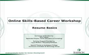 examples of a resume for a job resumes cover letters and more career development babson college hidden online workshops