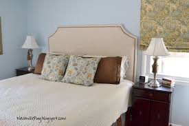 cloth headboards decorate your bedroom with cloth headboards nashvillepug drop cloth headboard with nailhead trim