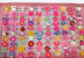 baby girl rings images Plastic finger rings for children box cartoon adjustable finger jpg