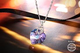blue heart crystal necklace images Plato h woman jewelry necklace brave heart purple pink crystal jpg