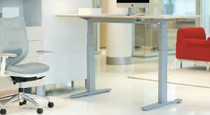 office desk adjustable height livello height adjustable tables teknion office furniture