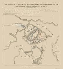 Suffolk County Massachusetts Maps And Old War Map Bunker Hill Battle Boston 1775