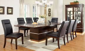 7 Pc Dining Room Sets 7 Pc Cherry Formal Dining Room Table Set L E D Lights