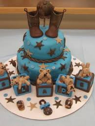 western baby shower top baby blocks cakes cake western rustic baby
