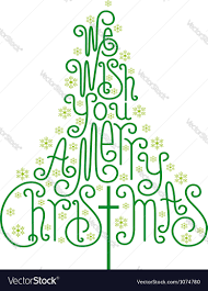 we wish you a merry card royalty free vector image