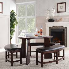 space saving with unique dining room table with bench seats