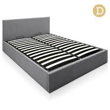 grey fabric bed frame australia home design ideas