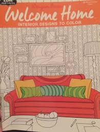 welcome home interiors coloring book daydream designs relax kappa designer series