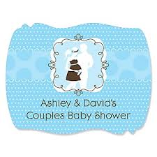 baby shower for couples silhouette couples it s a boy baby shower theme