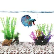 aquarium landscape idea fish tank decoration plastic plant for