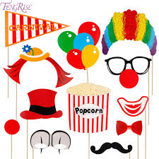 photo booth props fengrise 12pcs circus clown photo booth props diy circus joker