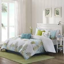 Tropical Bedding Sets Coastal Bedding Set Tropical Comforter 7pc Cotton Leaf Print