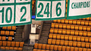 why was boston garden nearly empty when bill russell u0027s number was