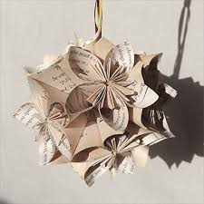 harry potter origami tree ornament large