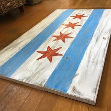 Chicagos Flag Plank Chicago Flag Splintered Design Splintered Design