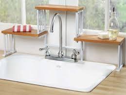 over the sink colander kitchen over the sink organizer shelf cutting board with colander