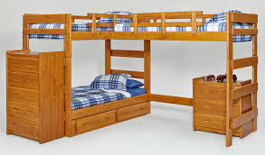 Bunk Beds With Stair In One Room   Bunk Beds With Stairs - Three bunk bed