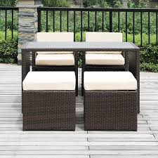 Ventura Patio Furniture by Amazon Com Handy Living 5 Piece Wicker Indoor Outdoor Dining Set