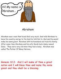 abraham sunday lessons preschool kids bible lesson plans