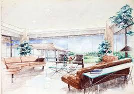 interior design colored sketches google search interior