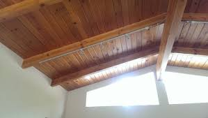insulation insulating a post and beam construction roof