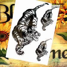 popular tiger body tattoo buy cheap tiger body tattoo lots from