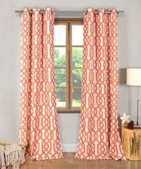 Orange Patterned Curtains Kaili Faux Linen Grommet Top Curtain Panel Overstock Com