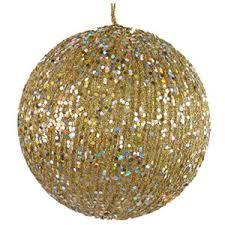 gold glitter balls ornaments polyvore