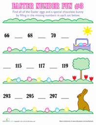 1st grade easter counting worksheets education com