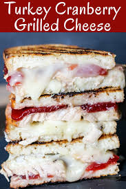 turkey cranberry grilled cheese thanksgiving leftover sandwiches
