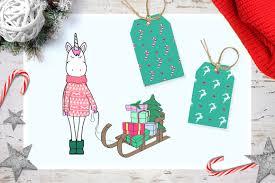 unicorn u0027s christmas by callmestasya design bundles